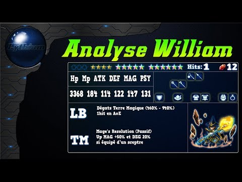 final fantasy brave exvius analyse William review, banner cloud