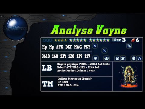 Analyse de Vayne sur FFBE Global.
