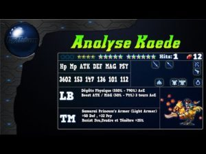 Analyse de Kaede sur FFBE Global.