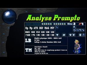 Analyse de Prompto de ff15 sur FFBE Global.