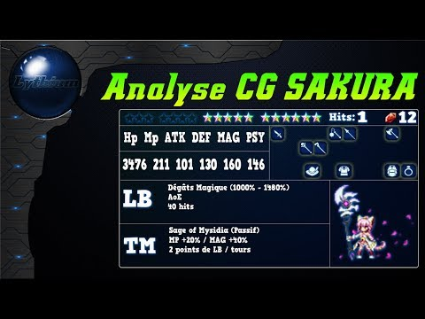FFBE - Analyse CG SAKURA !!! [ FF Brave Exvius Review FR ]