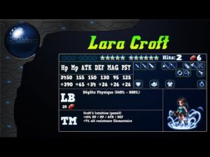 Analyse de Lara Croft de l'event Tomb Raider sur FFBE Global