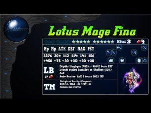 Analyse de CG Fina / Lotus Mage Fina sur FFBE Global
