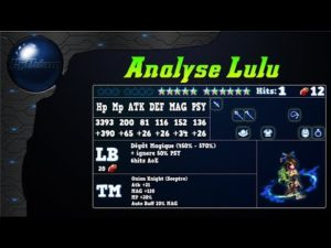 Analyse de Lulu sur FFBE Global