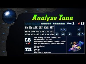 Analyse de Yuna sur FFBE Global