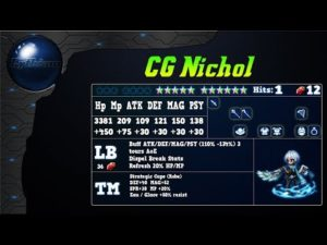 Analyse de CG Nichol sur FFBE global