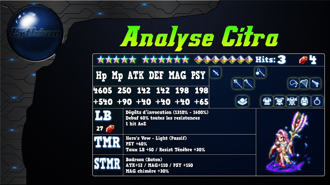 Analyse de Citra sur FFBE Global