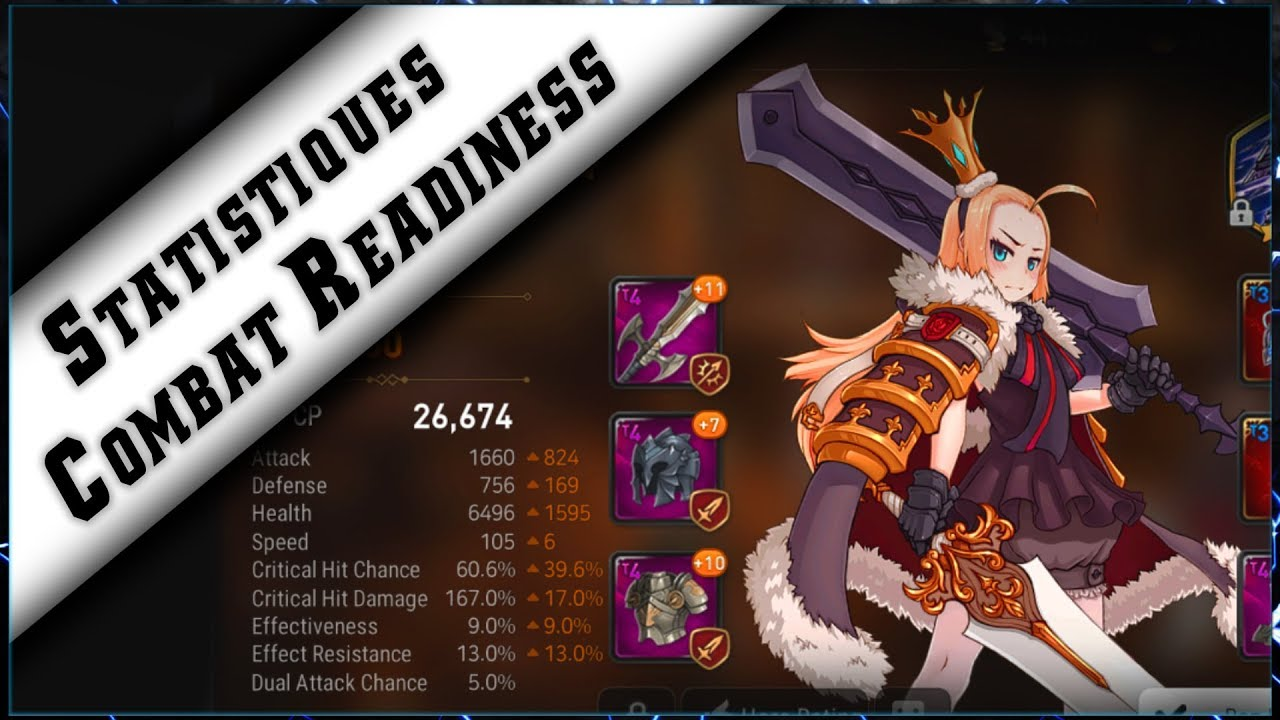 Epic Seven – Guide Combat Readiness et les Statisques ► [ Epic7 Global FR ]