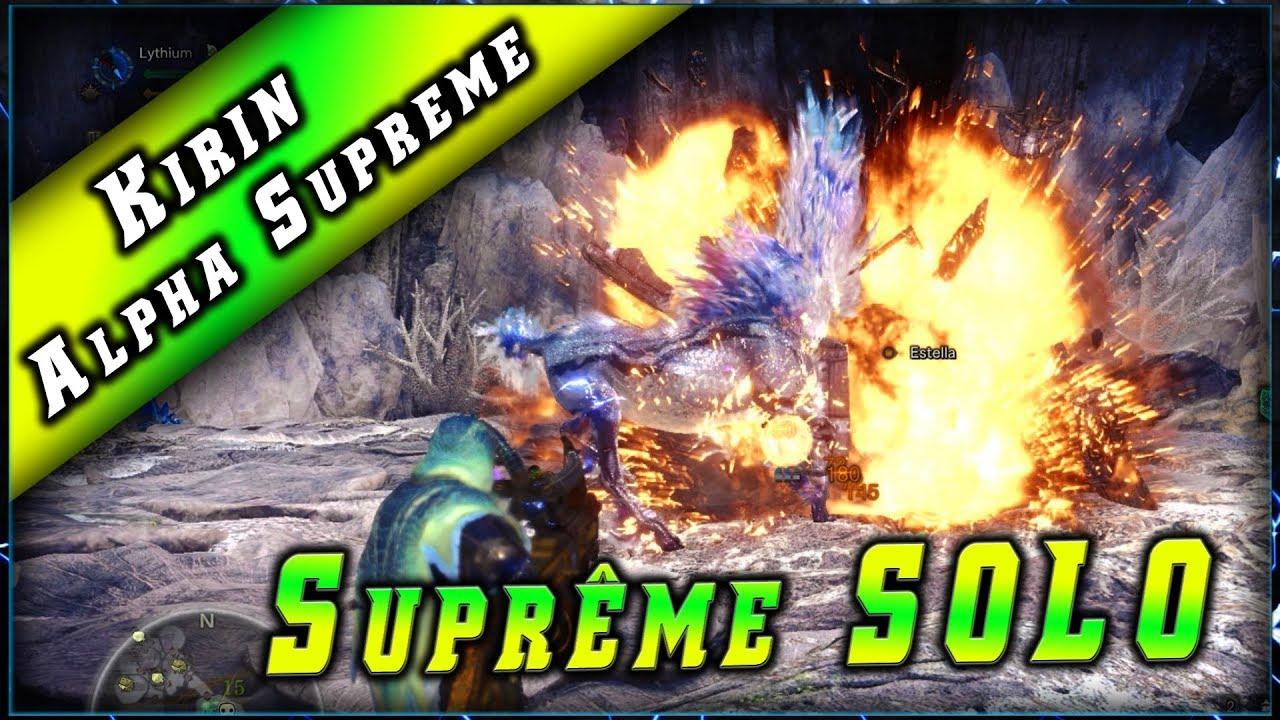 Solo Light GUN • Kirin Alpha Suprême ► Monster Hunter World PC