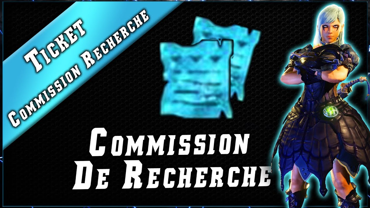 MHW • Ticket Comission de Recherche & Quête RC 100 ► Monster Hunter World PC