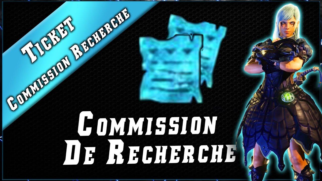 Ticket Comission de Recherche & Quête RC 100.