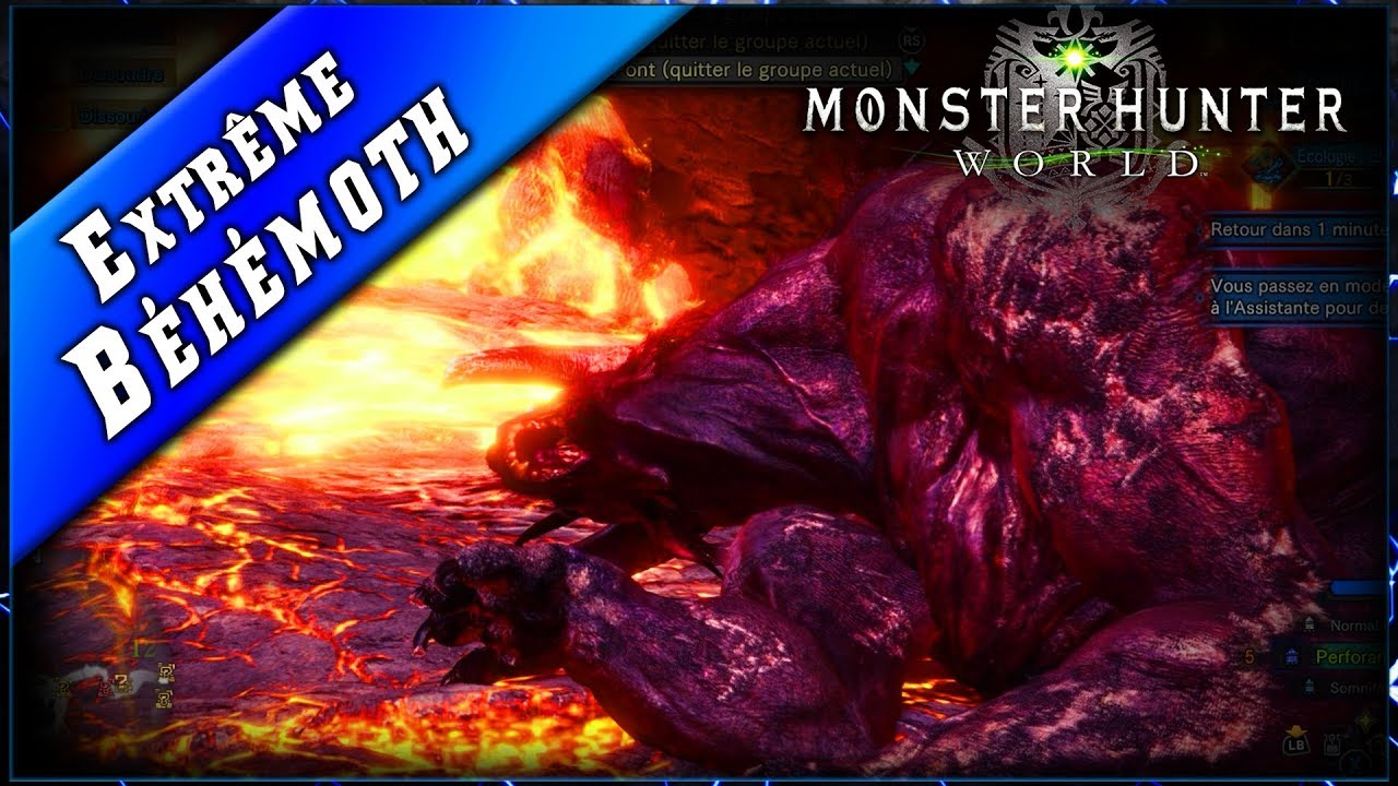 MHW • Down le Béhémoth EXTREME ► Monster Hunter World PC