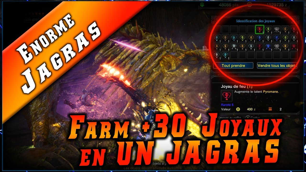 MHW • Farm +30 Joyaux en UNE Quête ! ► Monster Hunter World Gameplay