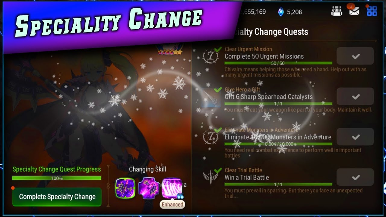 Epic Seven • Guide Speciality Change ► [ Epic7 Global FR ]
