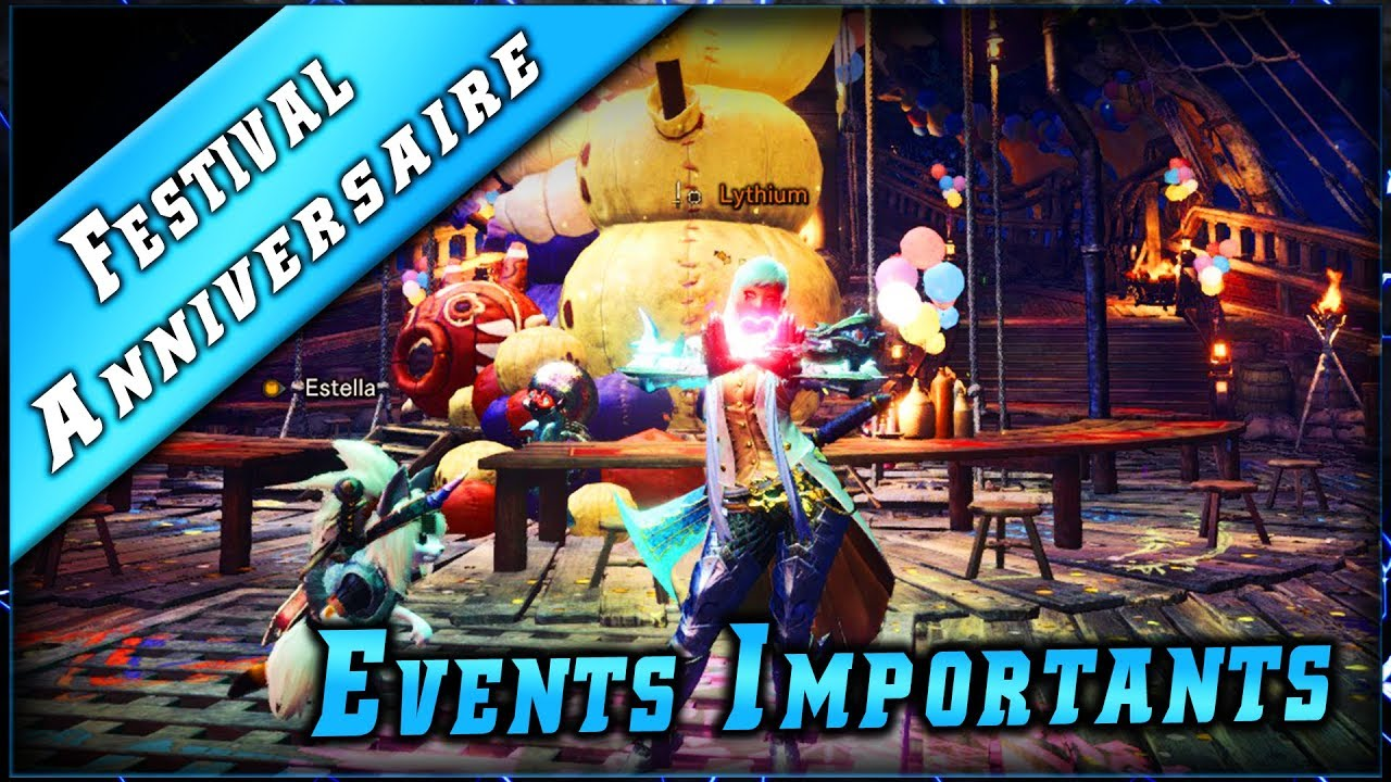 MHW • Events à Farm – Festival Anniversaire ► Monster Hunter World Gameplay