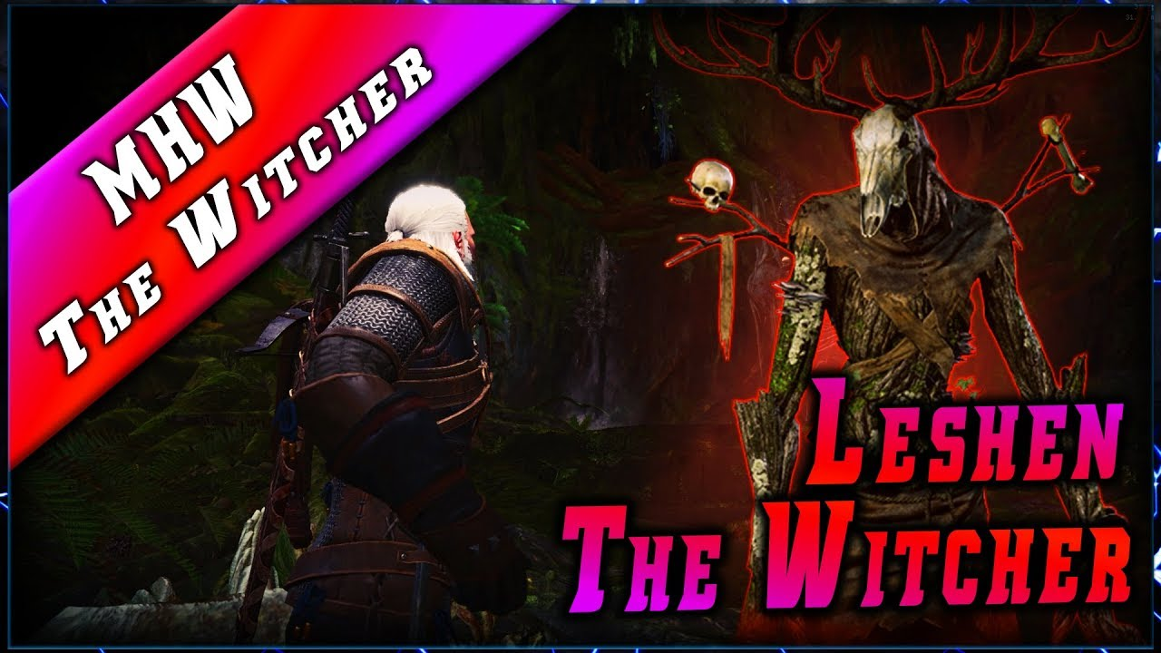 MHW • GERALT & Le LESHEN – The Witcher ► Monster Hunter World Gameplay