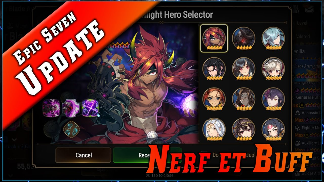 Epic Seven • Update – Nerf et Buff ► [ Epic7 FR ]