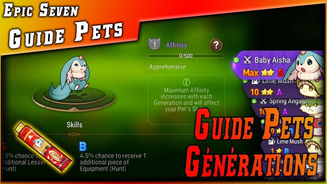 Guides • Tout savoir sur les Pets & Les Friandises & Auto Battle ►【Epic Seven】
